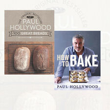 Paul Hollywood Collection 100 Great Breads and How to Bake 2 Books Set Pack NEW