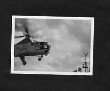 C1950's Original Photo - WS-51 Dragonfly Helicopter Devonport Naval Day
