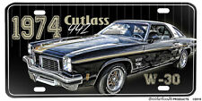 1974 Oldsmobile Cutlass 442 W-30 Aluminum License Plate
