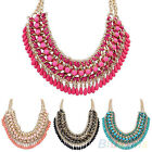 Fashion Womens Bohemian Vintage Braided Bib Statement Chain Necklace Pendant Hot