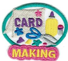 Girl Boy Cub CARD MAKING white Fun Patches Crests Badge SCOUT GUIDES donation