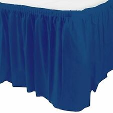 14ft Plastic NAVY BLUE Table Skirt wedding party