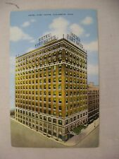 VINTAGE LINEN POSTCARD OF HOTEL FORT HAYES IN COLUMBUS, OHIO