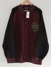 Ralph LAUREN POLO BORDEAUX BORGOGNA Black Baseball Giacca Cappotto 3xb 3xl 3x BIG XXXL