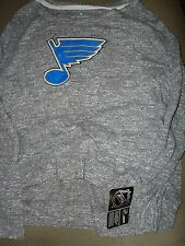 NHL WOMENS ST LOUIS BLUES HEATHER GRAY SMALL