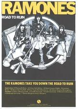 RAMONES POSTER,  ROAD TO RUIN.  Punk.