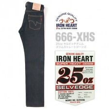 IRON HEART JEANS 25oz SELVEDGE DENIM STRONG SLIM STRAIGHT PANTS 666-XHS F/S