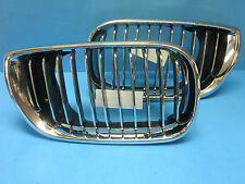 Right Passenger side Front Hood Grill Replace BMW OEM# 5113704296* Chrome Black
