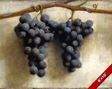 GRAPES ON THE VINE AGAINST A WALL JOSEPH DECKER PAINTING ART REAL CANVAS PRINT