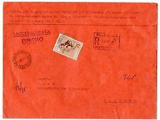 STORIA POSTALE 1966 REPUBBLICA BOB L. 500 SU RACC.EX PALERMO 11/2 D/8644
