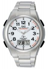 CITIZEN Q&Q MD02-204 Solar Multiband 5 Silver White New Men's Watch from Japan