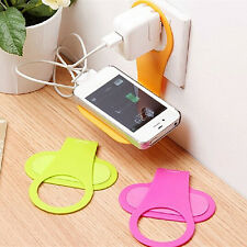 Mobile foldable cellphone Iphone samsung charger holder charging rack wall mount