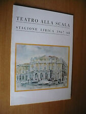 TEATRO ALLA SCALA STAGIONE 1967/68 BALLETTI AUDITORIUM ELEGIA ALLEGRO BRILLANTE