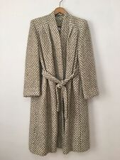 Vintage Womens MJ Seattle Ivory Camel Tweed Coat Small Medium
