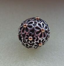 New Authentic Pandora Lazy Daisy w/14k gold clip charm bead 791014
