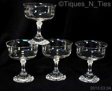 4 Claus Josef Riedel Crocus Austrian Crystal Champagne/Sherbet Wine Glasses (FF)