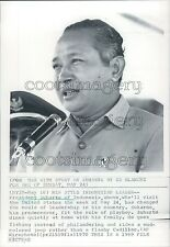 1969 President Suharto of Indonesia Press Photo