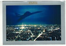CARTE POSTALE./CONCORDE-SUPERSONIC-PARIS.CHIC//VOL DE NUIT