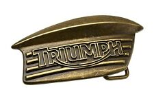 GENUINE Triumph Brass Coloured Brushed Metal Tank Badge Belt Buckle NEW 25% OFF