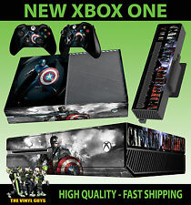 XBOX ONE CONSOLE STICKER CAPTAIN AMERICA 001 AVENGERS SKIN & 2 PAD SKINS