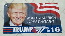 Donald Trump Flag 2016 President Make America Great Again banner Hillary Clinton