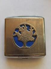 1930's Cara Nome Vintage Chrome Powder Compact  Very Good Condition NR