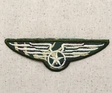 Iron On Applique Embroidered Patch Military Wings Air Force Star Circle Camo