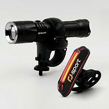 Super 300 Lumen LED USB Rechargeable Powerful Bicycle �� Head Light & Tail Light