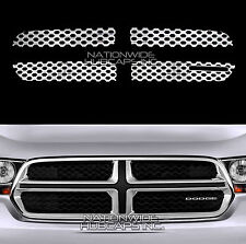 11-13 Dodge Durango CHROME Snap On Grille Overlay Front Grill Covers Inserts NEW