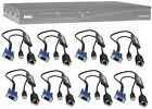 DELL PowerEdge 2161DS 16 port KVM IP Switch UNLOCKED TESTED 8 0UF366 USB Cables