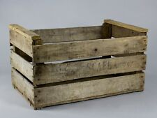 6 PACK VINTAGE FRENCH WOODEN FARM SOLID APPLE BOX - DISPLAY CABINET STORAGE