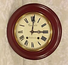 Vintage Fascruche Gallery Wall Clock Combronde Runs? Strikes? France