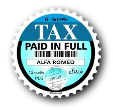 Nouveauté disque de taxe de remplacement road fonds licence autocollant voiture s'adapte à toutes les alfa romeo