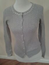TOMMY HILFIGER WOMEN'S CREWNECK CABLE KNIT SWEATER - GRAY-XS