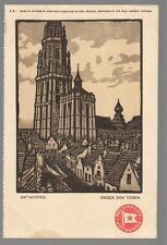 [53363] OLD POSTCARD RED STAR LINE L-2 ANTWERP UNDER THE TOWER