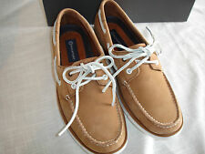 New ROCKPORT 2 Eye Boat Deck Shoes Leather V73569 Adiprene Lt Brown Sz 11 NIB