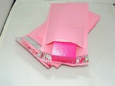 100 Pastel Pink 4x8 Bubble Mailers, Wholesale Padded Shipping Mailing Envelopes