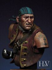 Heroes & Villains Tortuga Pirate Buccaneer unpainted resin 1/12th Bust kit