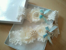 Wedding Garter Set - Something Blue Weddng Garter Set