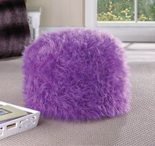Fuzzy Home Locomotion, Polyester and polystyrene Ottoman Orchid Pouf