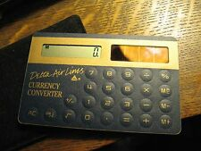 Delta Airlines Calculator - Vintage Air Lines Solar Powered Currency Converter
