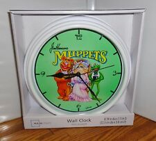 "THE MUPPETS WALL CLOCK # 3. 9"" DIA. DISNEY CARTOONS.....FREE SHIPPING"