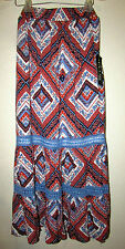 Womans 4X Full Length Maxi Peasant Lined Skirt with Crochet Trim New with Tags