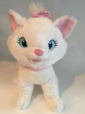 "Disney Store Marie Plush Cat of The Aristocats 12"" White Fluffy Pink Bow VGUC"