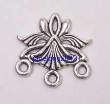 6pcs Tibetan Silver Charms Earring Connectors FOR Jewelry Making 27MM C3149