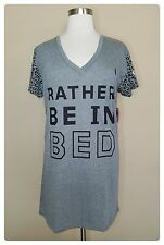Plus size Sleep Shirt 3X Womens Pajamas Nightgown Summer Cotton Lounge Wear NWT