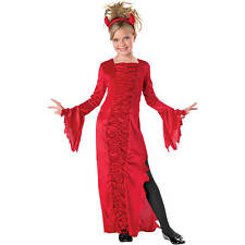 Girls RED DEVIL HALLOWEEN COSTUME Dress NEW M Medium 8-10