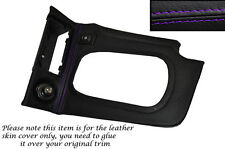 PURPLE STITCH AUTO AUTOMATIC GEAR SURROUND LEATHER COVER FITS NISSAN SKYLINE R34