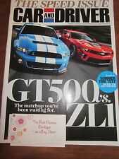 CAR AND DRIVER AUTO MAGAZINE AUGUST 2012 NEW GT500 vs ZL1