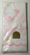 "Vintage Hallmark Girl Pink Happy Birthday Paper Table Cover Cloth 54"" X 102"" New"